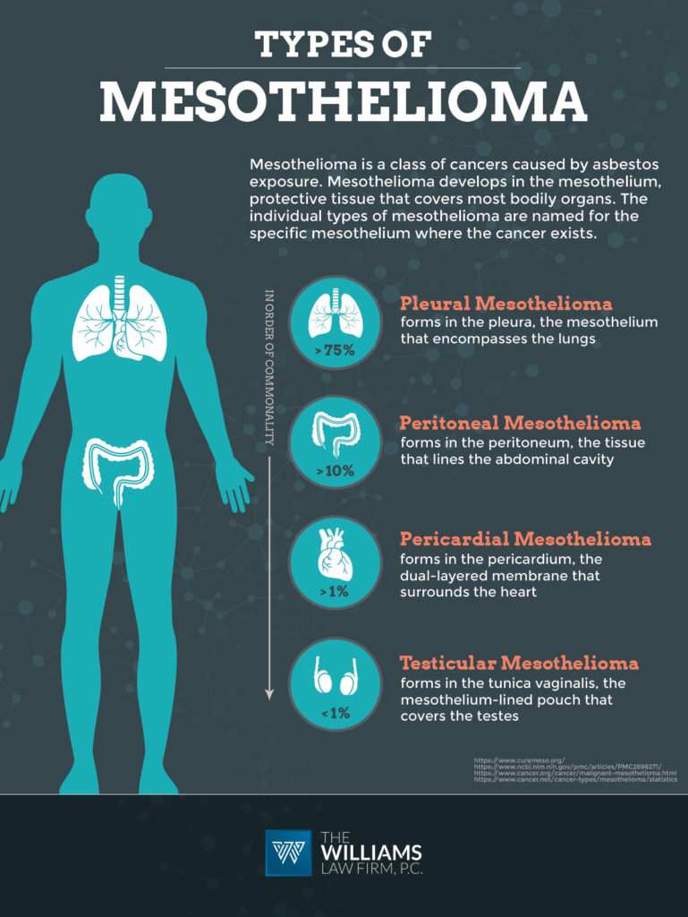 Types Of Mesothelioma The Williams Law Firm Firm