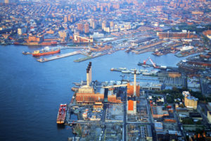 aerial view of the brooklyn navy yard